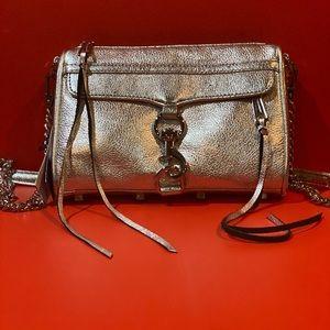 Rebecca Minkoff Mini MAC Silver leather crossbody